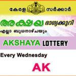 Kerala Lottery Result (13.06.2018) Akshaya AK 349: Akshaya Lottery AK 349
