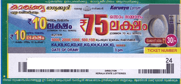Kerala lottery ticket please
